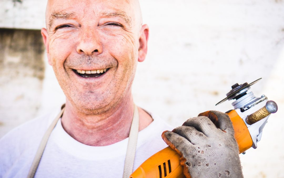 Smiling, friendly tradesman