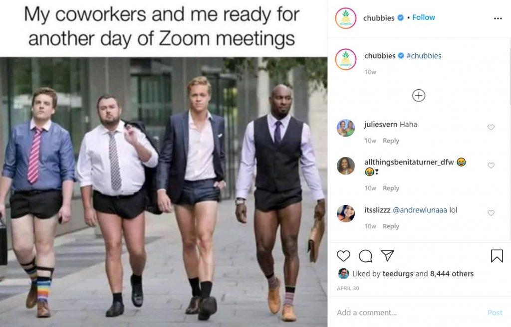 Chubbies Shorts Instagram