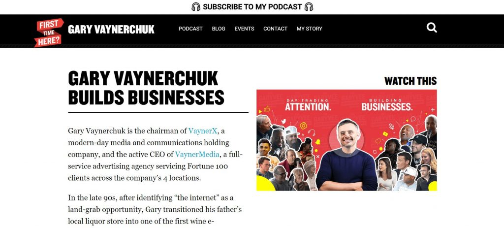 Gary Vaynerchuk' Home Page