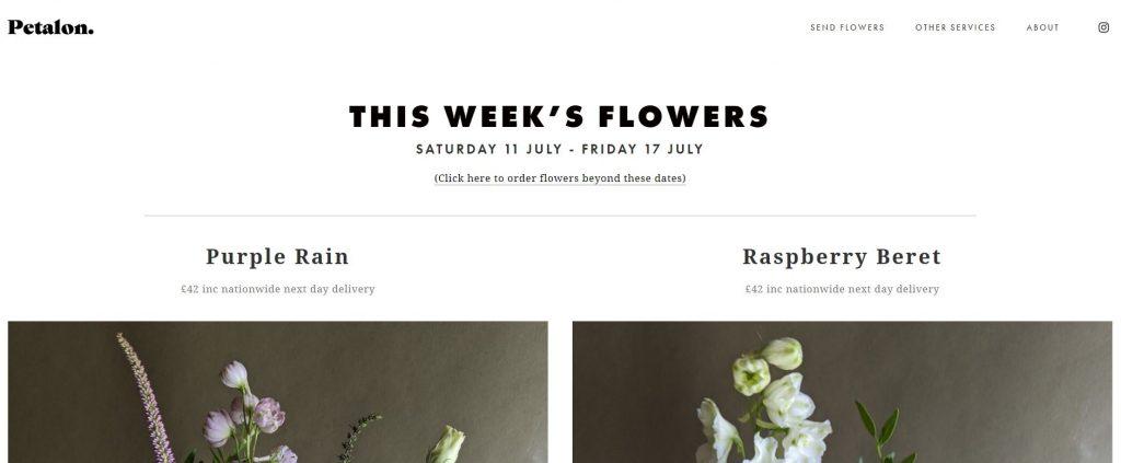 Petalon Florist Home Page