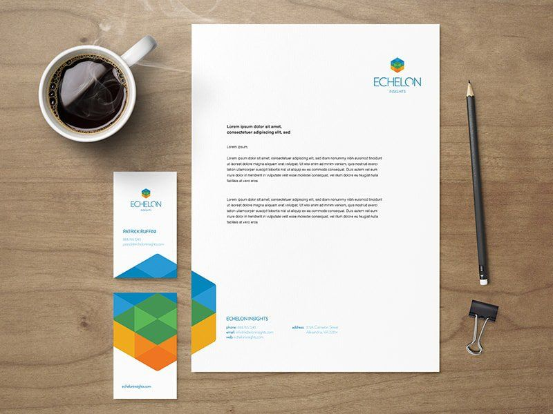 Example of creative and eye catching corporate stationery